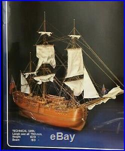 Artesania Latina H. M. S. Endeavour Wooden Ship Model Kit Very Rare Vintage Mint