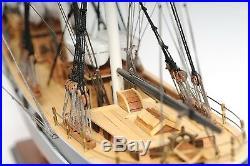 Cutty Sark China Clipper Tall Ship 34' Wooden Model No Sails Boat Assembled