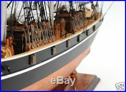 Cutty Sark NO SAILS Wooden Tall Ship Model 34 China Tea Clipper Sailboat