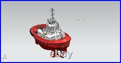 DAMEN 2412 WORK BOAT 148 515 MM RC MODEL Model ship kit