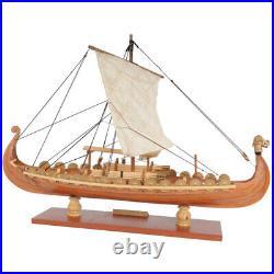 Drakkar Dragon Viking Sailboat Ship Assembly Model Kit, Laser Cut Wood DIY, Toy