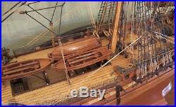 Fantastic Detailed USS Constitution Frigate Wooden Ship Model Old Ironsides 39