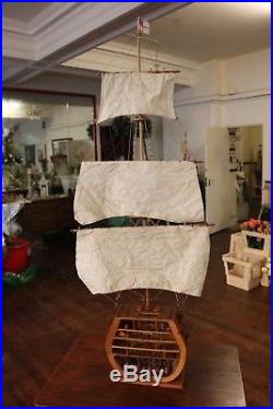 HMS Victory Cross Section Model Ship With Mast Rigging & Sails Large 44 High