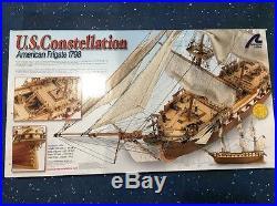 Latina Wood Model Kit 22850 US Constellation American Frigate Ship box damage