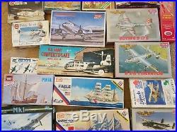 Lot (29) MODEL AIRPLANE and SHIP/BOAT KITS