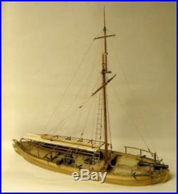 MODEL SHIPWAYS 2263 124 Gunboat Philadelphia 1776 Model Ship Kit FREE SHIP