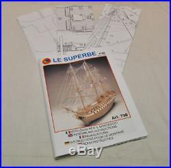 Mantua Models Le Superbe 74 Gun French Fighting Ship 1708 175 Static Model Kit