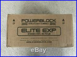 POWERBLOCK Elite EXP Stage 2 Kit (2020 Model) 50-70 LBS FREE SHIP/SHIPS FAST
