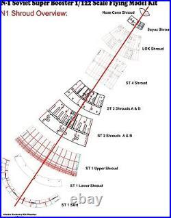 SPRING SALE! 25% off list! Soviet N1 Model Rocket 1/122 Scale FREE SHIP