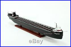 SS William G. Mather American Great Lakes Freighter Handmade Wooden Ship Model