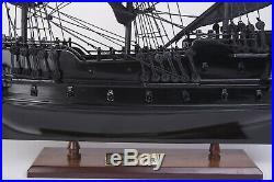 Small Black Pearl Caribbean Pirate Tall Ship Wood Model 20 Fully Assembled New