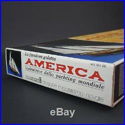 The America Art. MV26 Mamoli Wooden Model Ship Kit by 166 Scale NEW NOS