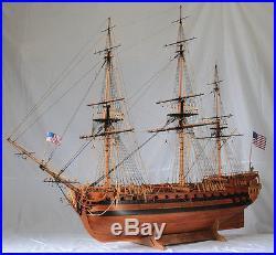 Uss Bonhomme Richard Scale 1 48 58 Wood Model Ship Kit Sail
