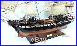 USS Constitution Tall Ship Assembled 35 Built Wooden Model Ship