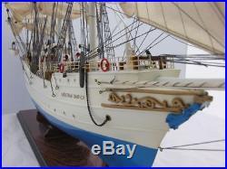 Windjammer Christian Radich 37 Wooden Built Tall Training Ship Model Assembled